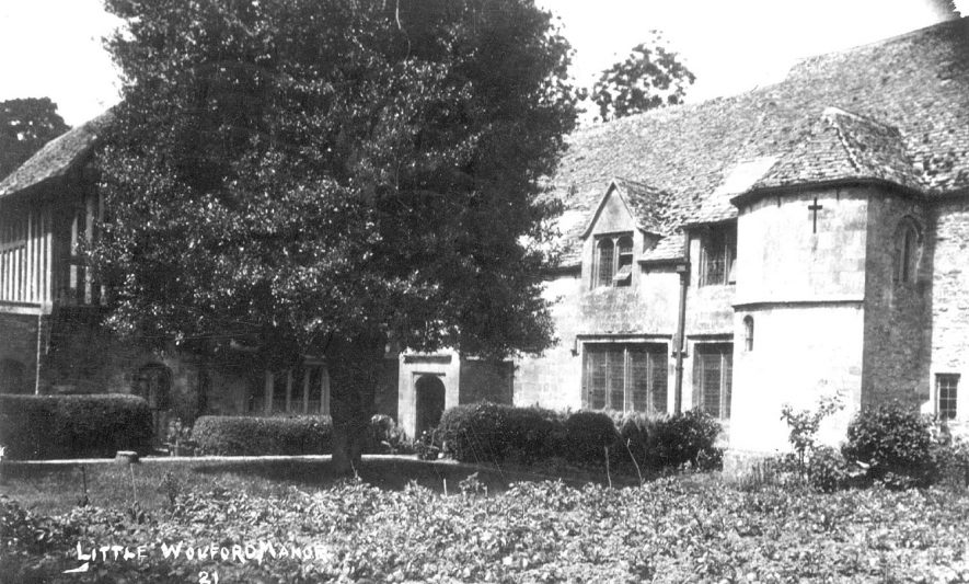 The Manor House, Little Wolford.  1920s    IMAGE LOCATION: (Warwickshire County Record Office)