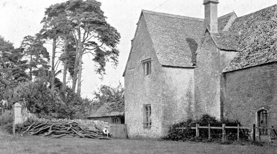 Rear of The Manor House, Little Wolford.  1910s |  IMAGE LOCATION: (Warwickshire County Record Office)