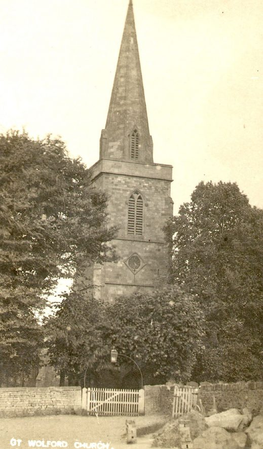 St. Michael's Church, Great Wolford.  1910s |  IMAGE LOCATION: (Warwickshire County Record Office)