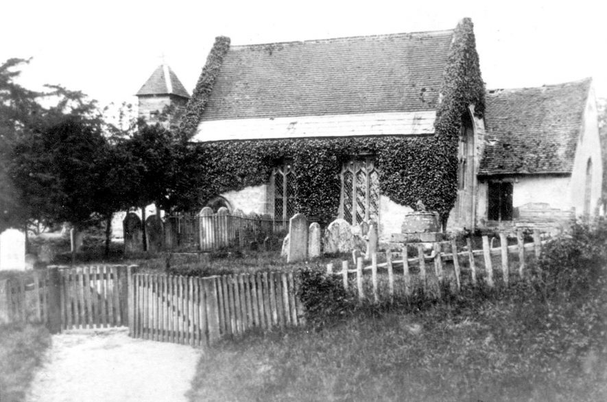 Wixford Parish Church.  1880    IMAGE LOCATION: (Warwickshire County Record Office)