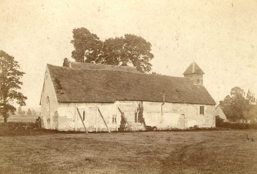 Exterior view of Wixford parish church.  1880 |  IMAGE LOCATION: (Warwickshire County Record Office)