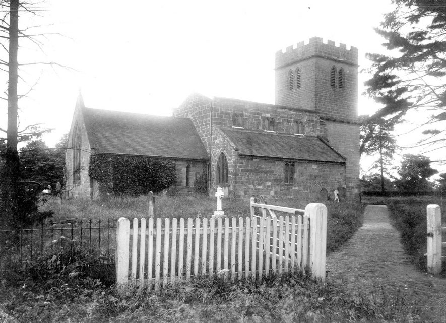 St Chads church, Wishaw, from the north east.  1930s. |  IMAGE LOCATION: (Warwickshire County Record Office)