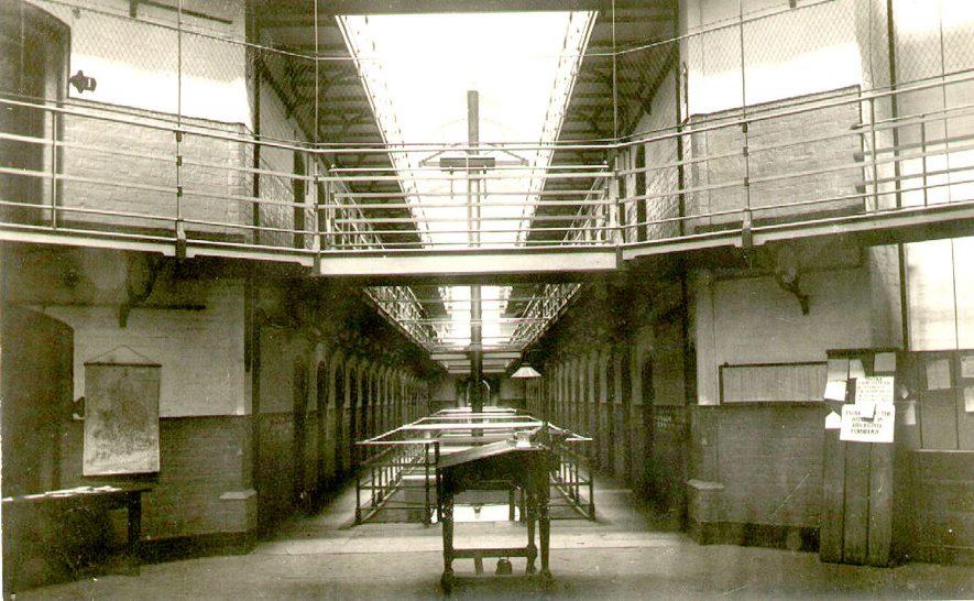 Interior view of Warwick Prison, Cape Road.  1910 |  IMAGE LOCATION: (Warwickshire County Record Office)