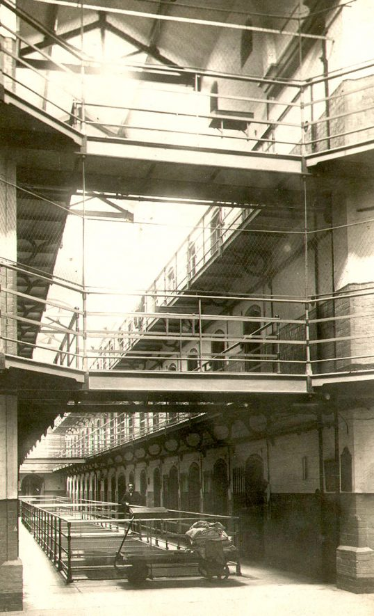 Interior view of Warwick Prison, Cape Road.  1910 |  IMAGE LOCATION: (Warwickshire County Record Office)