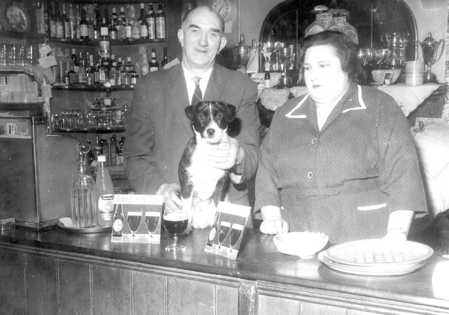 Licensee, Mrs D.M.Clarke behind the bar at the Cape of Good hope public house, Warwick.  Circa 1950 |  IMAGE LOCATION: (Warwickshire County Record Office) PEOPLE IN PHOTO: Clarke, Mrs D.M, Clarke as a surname