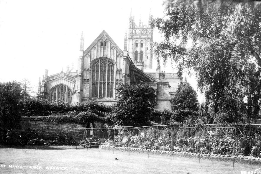 St Mary's Church, exterior.  Warwick.  1900s. |  IMAGE LOCATION: (Warwickshire County Record Office)