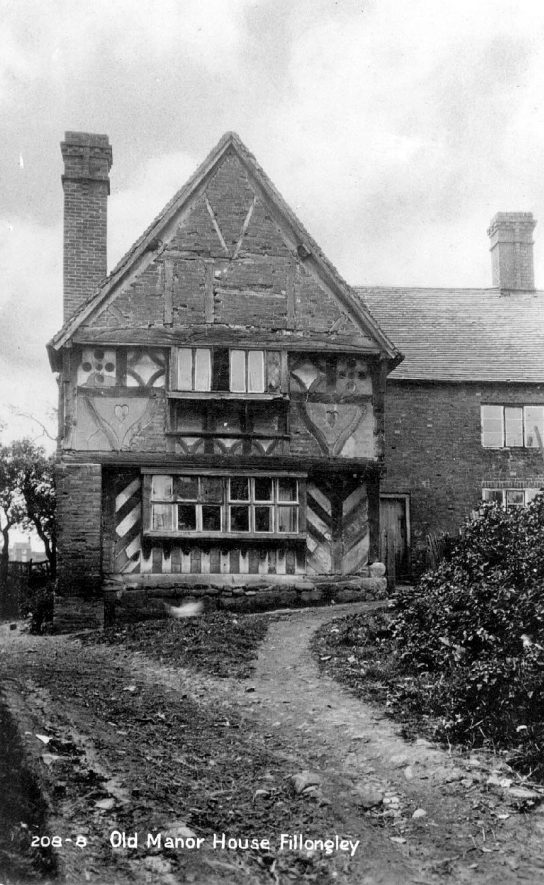 Old manor house with timber framing, Fillongley.  1930s |  IMAGE LOCATION: (Warwickshire County Record Office)