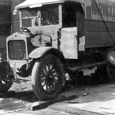 Warwick.  Laundry Delivery Van