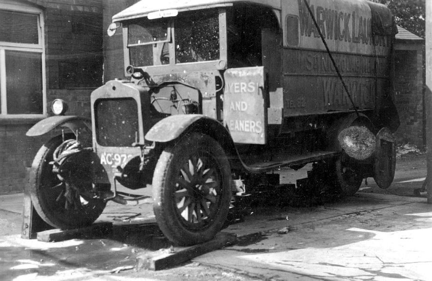 Warwick.  Warwick Laundry delivery van |  IMAGE LOCATION: (Warwickshire County Record Office)