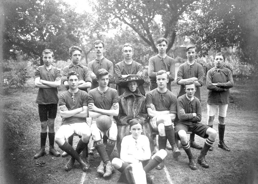 Warwick All Saints Athletic Football team. 1918/1919 |  IMAGE LOCATION: (Warwickshire County Record Office)