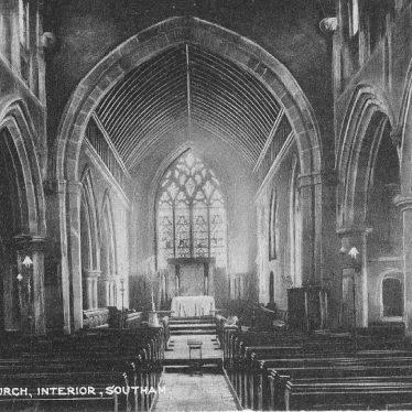 Southam.  Church, interior