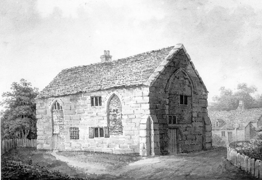 St. Michael's chapel, Saltisford, Warwick. Circa 1850s. |  IMAGE LOCATION: (Warwickshire County Record Office)