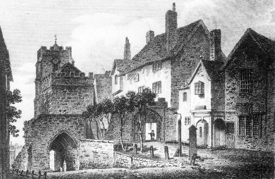 St James' Chapel, Warwick. Circa 1860s    IMAGE LOCATION: (Warwickshire County Record Office)