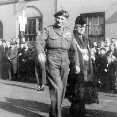 Warwick.  Visit of Field Marshall Montgomery