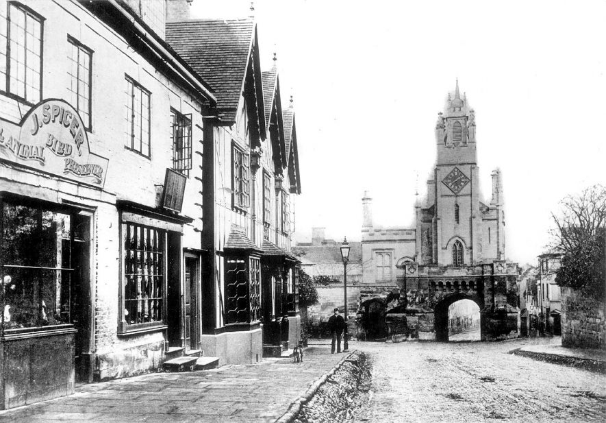 Jury Street, looking towards Eastgate, Warwick.  1860s |  IMAGE LOCATION: (Warwickshire County Record Office)