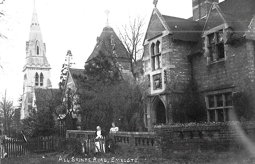 Exterior view of All Saints Church, Emscote, Warwick.  1920s |  IMAGE LOCATION: (Warwickshire County Record Office)