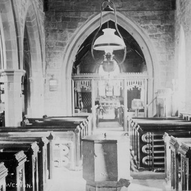 Weston under Wetherley.  St. Michael's church interior