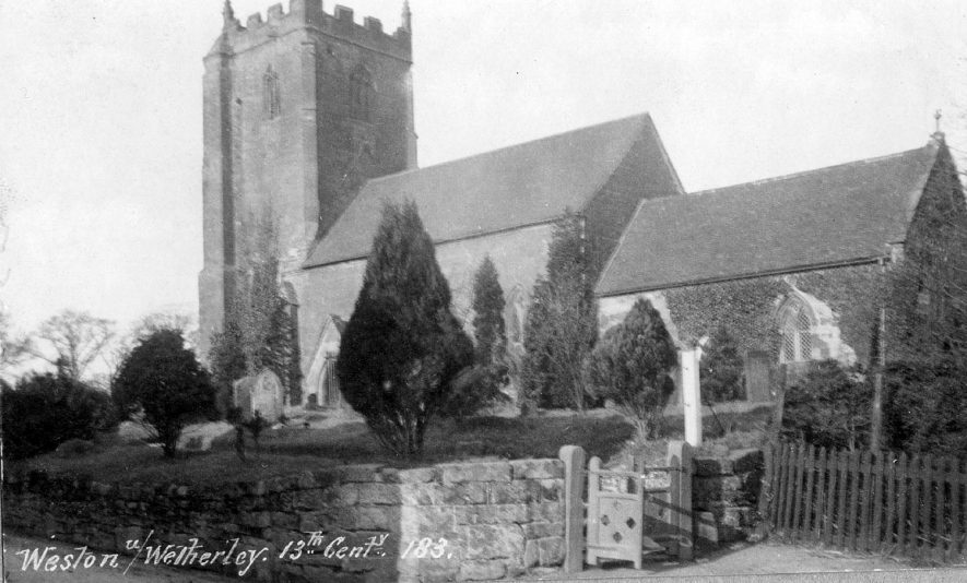 St Michael's church, Weston under Wetherley.  1920s    IMAGE LOCATION: (Warwickshire County Record Office)