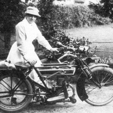 Fillongley.  Nurse with motor cycle.