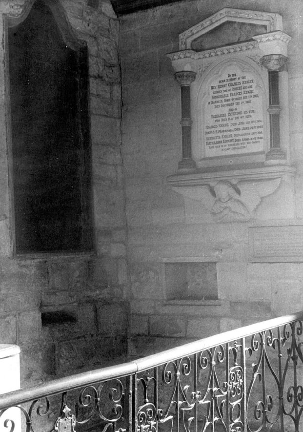 Interior of Old Church, Ullenhall.  1920s |  IMAGE LOCATION: (Warwickshire County Record Office)