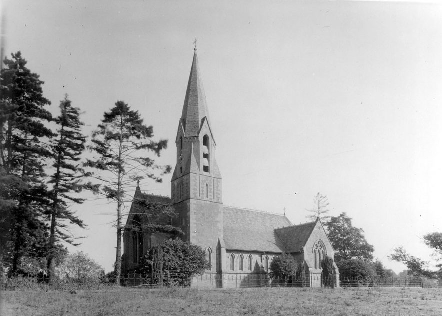 Exterior view of New Church, Ullenhall.  1920s |  IMAGE LOCATION: (Warwickshire County Record Office)