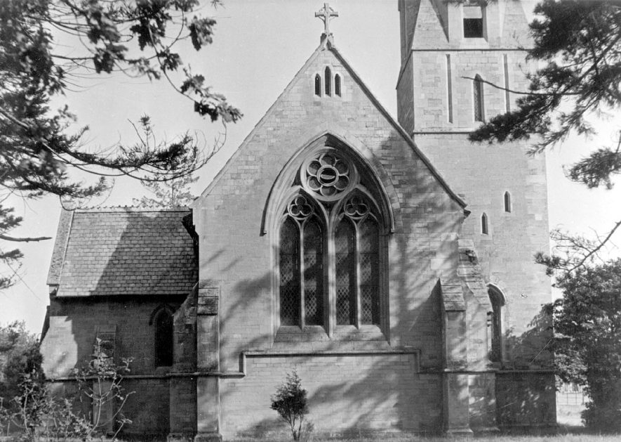 Exterior of New Church, Ullenhall.  1920s |  IMAGE LOCATION: (Warwickshire County Record Office)