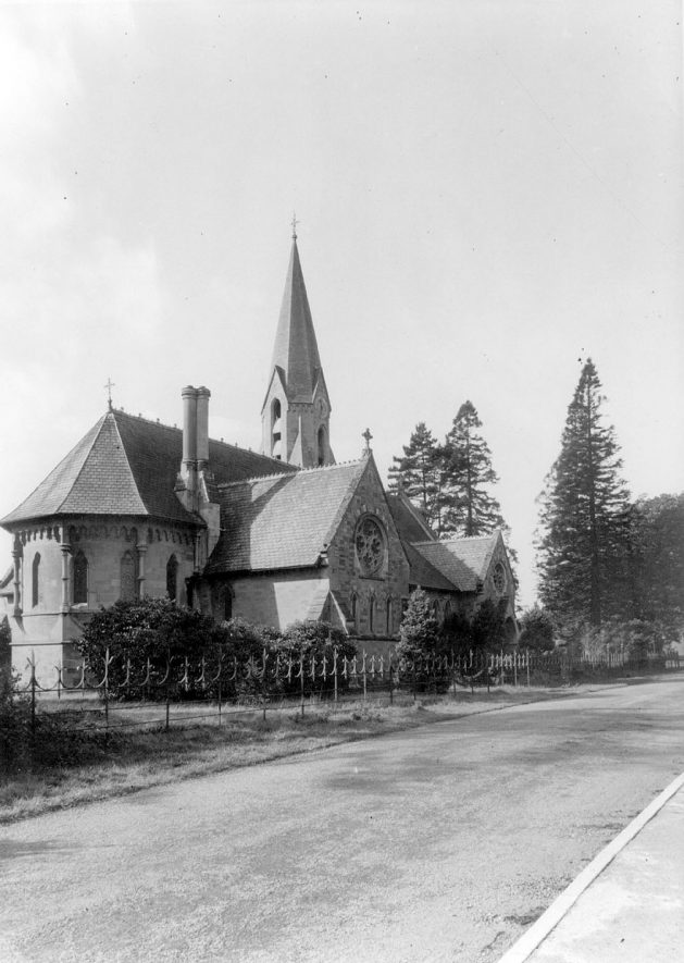 Exterior of New Church, Ullenhall.  1920s    IMAGE LOCATION: (Warwickshire County Record Office)