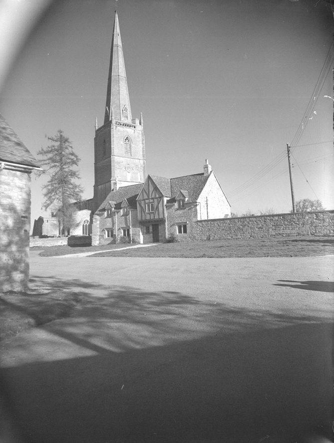 Tredington Parish Church exterior.  1955 |  IMAGE LOCATION: (Warwickshire County Record Office)