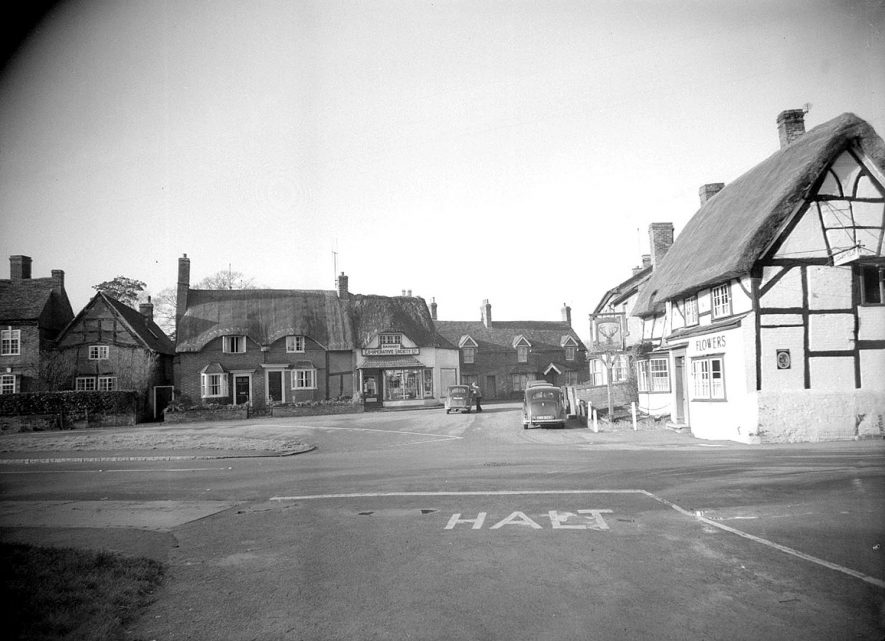 Wellesbourne. Bridge Street showing The Stags Head Inn and the Co-op Stores |  IMAGE LOCATION: (Warwickshire County Record Office)