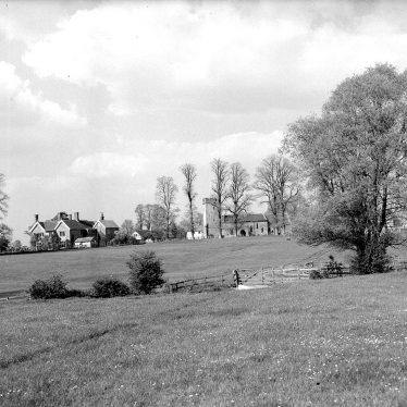 Whatcote. View over meadows towards church