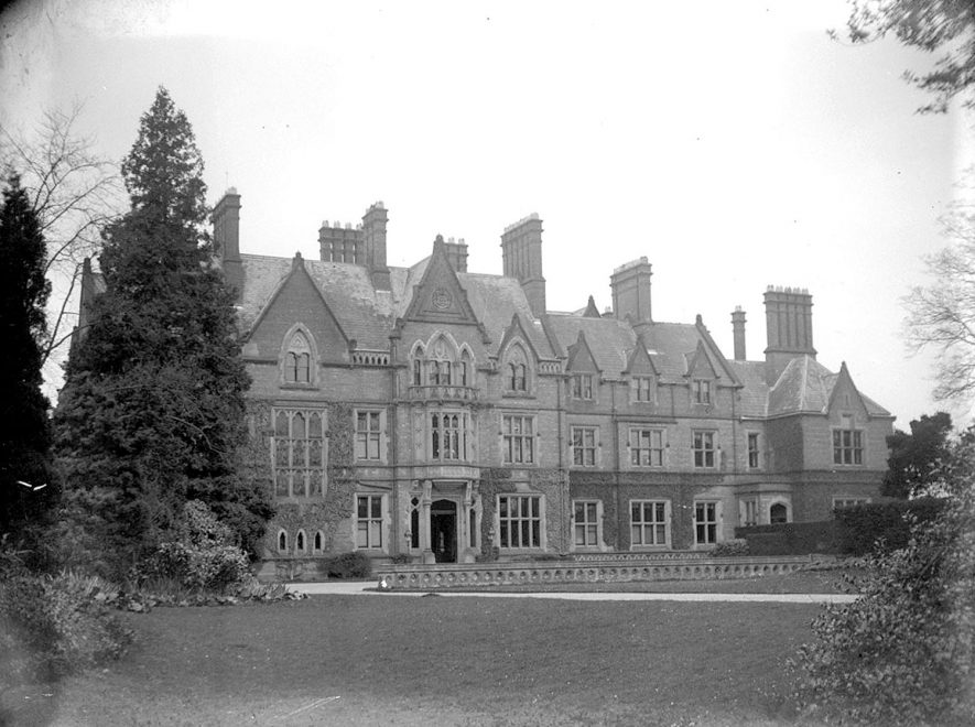 Wroxall Abbey.  Front of house    IMAGE LOCATION: (Warwickshire County Record Office)