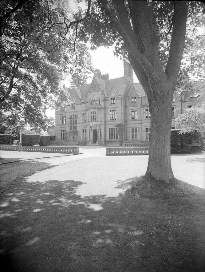Wroxall Abbey.  Front of house |  IMAGE LOCATION: (Warwickshire County Record Office)