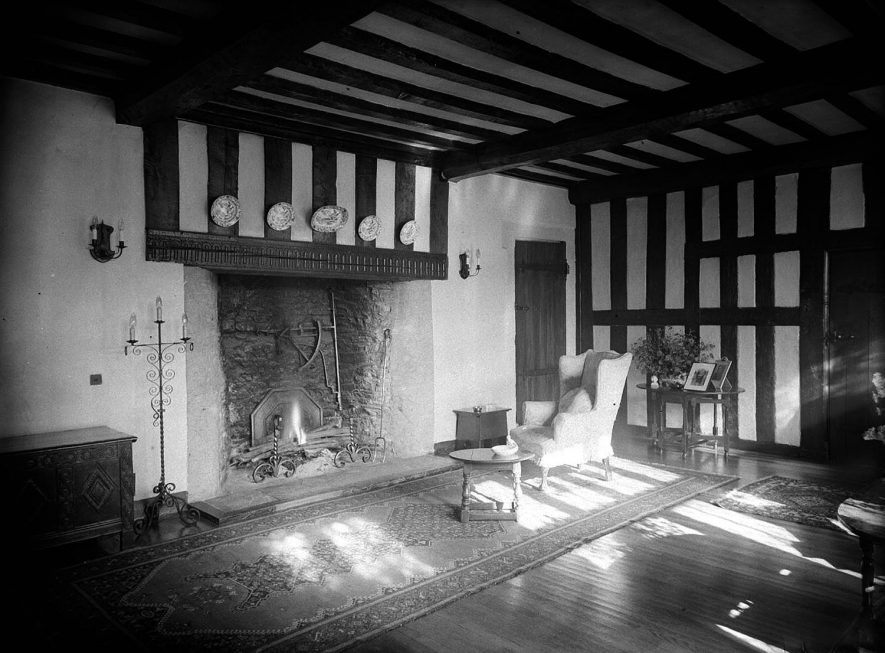 The Priory, sitting room interior.  Wolston.  1948. |  IMAGE LOCATION: (Warwickshire County Record Office)