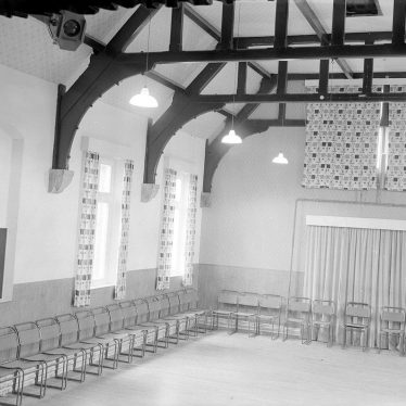 Wolston.  Village hall interior