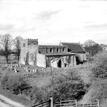 Wolfhampcote.  Church and graveyard
