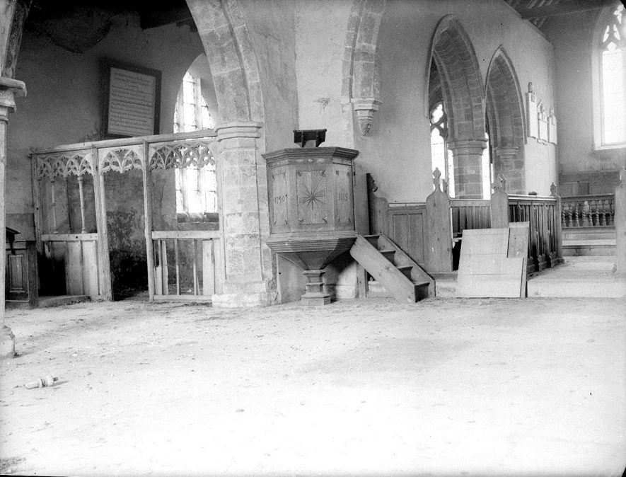 Wolfhampcote.  Interior of church |  IMAGE LOCATION: (Warwickshire County Record Office)