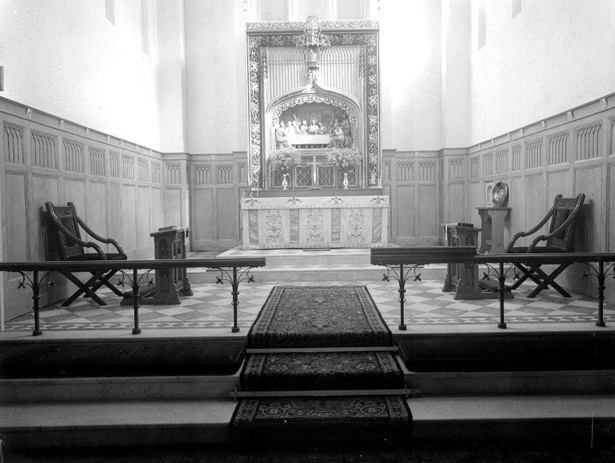Leamington Spa. St. Mary's Church New Chancel    IMAGE LOCATION: (Warwickshire County Record Office)