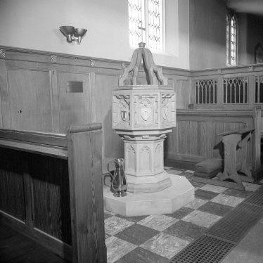 Leamington Spa.  St Mary's Church Baptistry
