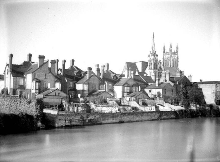 Leamington Spa. River Leam by moonlight |  IMAGE LOCATION: (Warwickshire County Record Office)