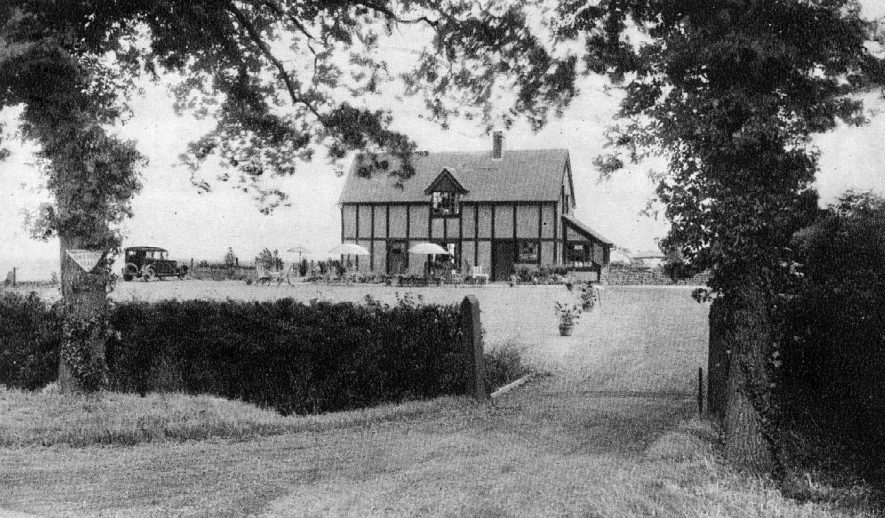 Exterior of The Blue Posts Tea House, Sherbourne Hill.  1920s |  IMAGE LOCATION: (Warwickshire County Record Office)