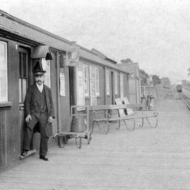 Flecknoe.  Railway Station