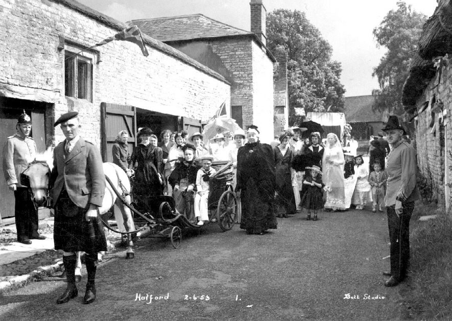 Victorian tableau during coronation celebrations, Halford.  2 June 1953. |  IMAGE LOCATION: (Warwickshire County Record Office)