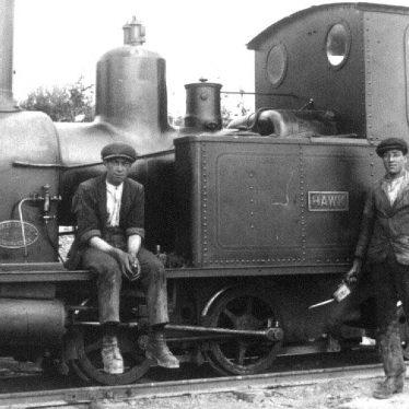 Harbury.  Quarry steam railway engine