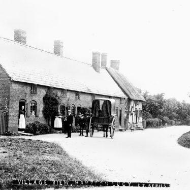 Hampton Lucy.  Village scene