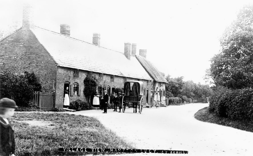 A village street scene, Hampton Lucy.  1900s |  IMAGE LOCATION: (Warwickshire County Record Office)