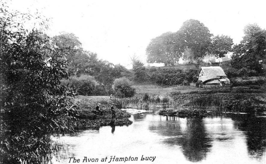 The River Avon at Hampton Lucy.  1900s |  IMAGE LOCATION: (Warwickshire County Record Office)