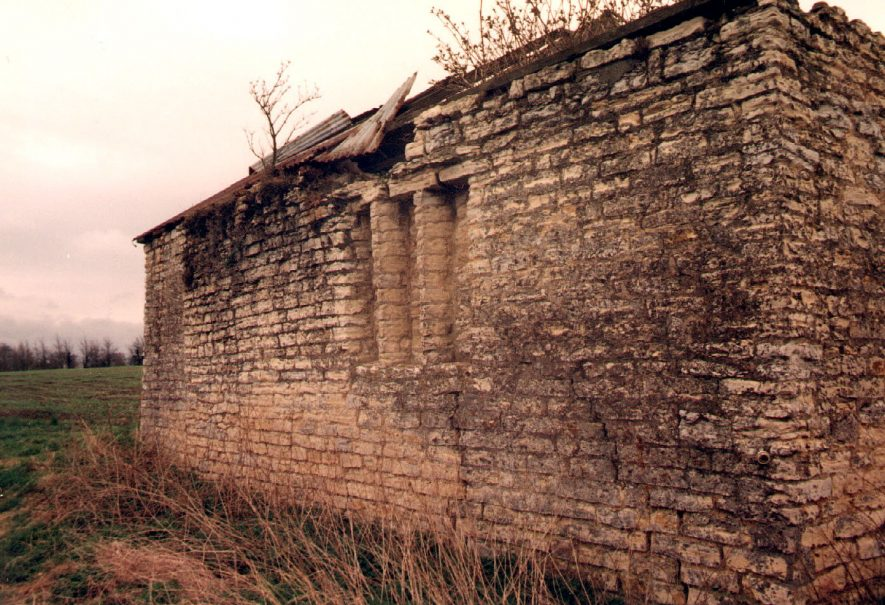 Ruin of a possible mediaeval building. Built of local limestone with dressed stone mullioned windows.  1992 |  IMAGE LOCATION: (Warwickshire Museum Sites and Monuments Record)