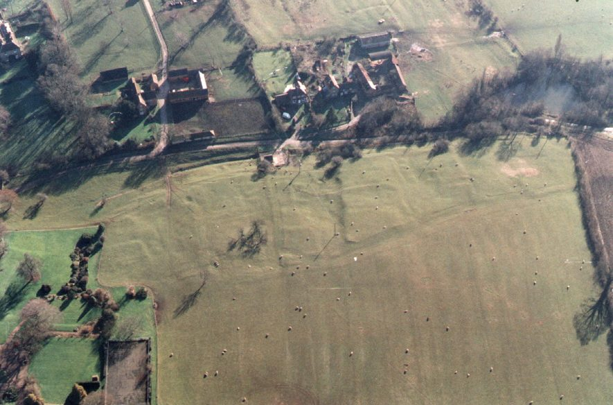Village earthworks, west.  1995 |  IMAGE LOCATION: (Warwickshire Museum Sites and Monuments Record)