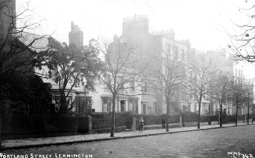 General view of the houses in Portland Street, Leamington Spa.  1900s |  IMAGE LOCATION: (Warwickshire County Record Office)