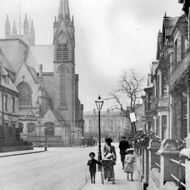 Leamington Spa.  Priory Terrace and church